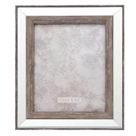 Fotolijst 29*2*34 / 20*25 cm Zilverkleurig | 2F0621L | Clayre & Eef