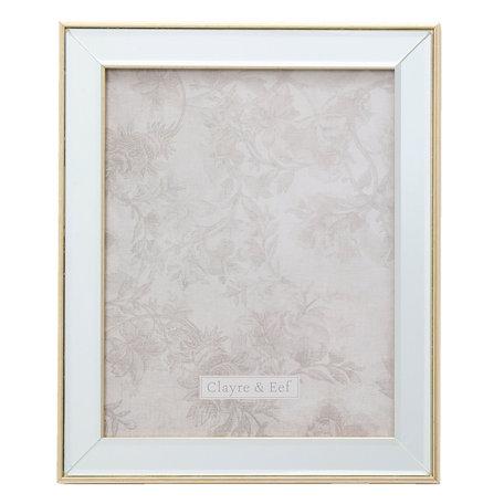 Fotolijst 25*2*30 / 20*25 cm Zilverkleurig | 2F0622L | Clayre & Eef