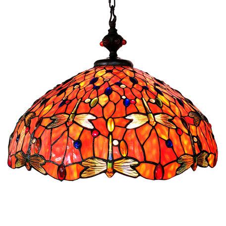 Hanglamp Tiffany ø 58 cm E27/max 3*60W Meerkleurig | 5LL-6030 | Clayre & Eef