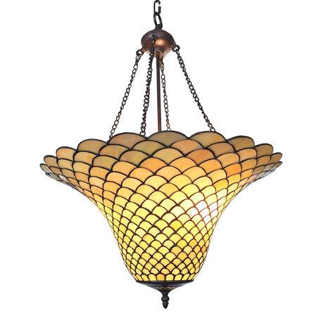 Hanglamp Tiffany ø 60 cm E27/max 3*60W Meerkleurig | 5LL-6031 | Clayre & Eef