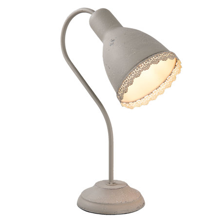 Bureaulamp 13*28*38 cm E27/max 1*15W Grijs   6LMP554G   Clayre & Eef
