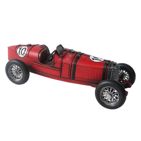 Model Auto 32*13*11 cm Rood   JJAU0010   Clayre & Eef