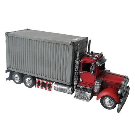 Vrachtauto 36*13*16 cm Grijs   JJAU0018   Clayre & Eef
