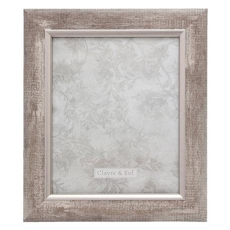 Fotolijst 28*2*33/ 20*25 cm Zilverkleurig | 2F0616L | Clayre & Eef