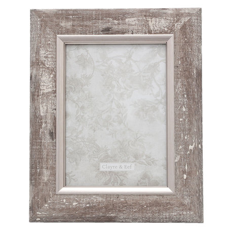Fotolijst 21*2*26/ 13*18 cm Zilverkleurig | 2F0616M | Clayre & Eef