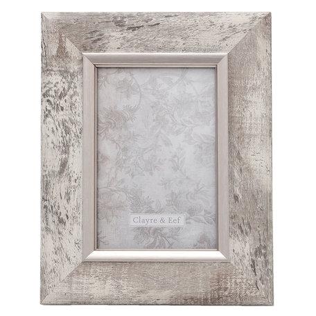 Fotolijst 17*2*23 / 10*15 cm Zilverkleurig | 2F0616S | Clayre & Eef