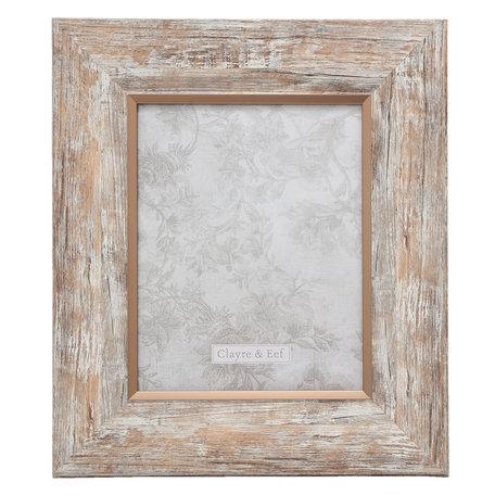 Fotolijst 33*2*38 cm / 20*25 cm Zilverkleurig | 2F0617L | Clayre & Eef