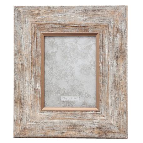 Fotolijst 26*2*32/13*18 cm Zilverkleurig | 2F0617M | Clayre & Eef