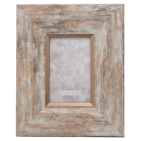Fotolijst 23*2*28 / 10*15 cm Zilverkleurig | 2F0617S | Clayre & Eef