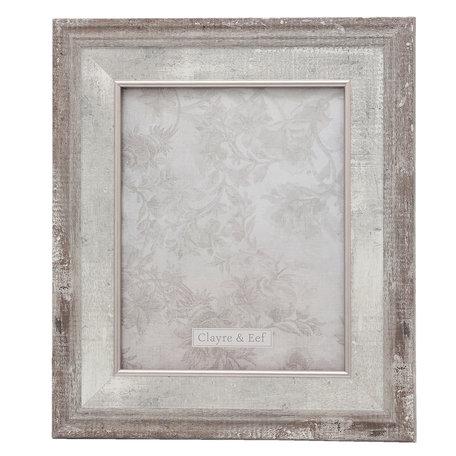 Fotolijst 30*2*35 / 20*25 cm Zilverkleurig | 2F0618L | Clayre & Eef