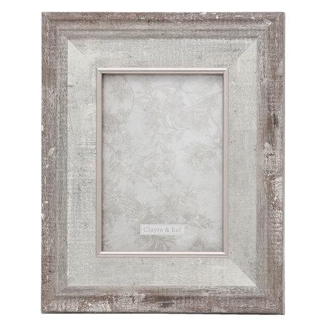 Fotolijst 23*2*28 / 13*18 cm Zilverkleurig | 2F0618M | Clayre & Eef