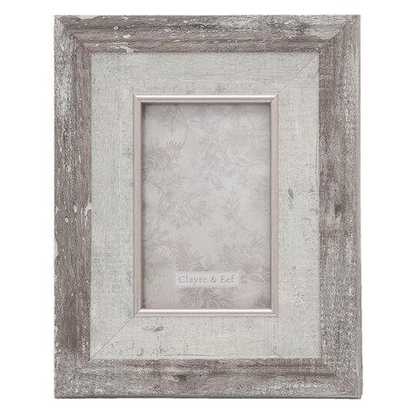 Fotolijst 20*2*25 / 10*15 cm Zilverkleurig | 2F0618S | Clayre & Eef