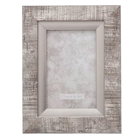 Fotolijst 17*2*22 / 10*15 cm Zilverkleurig | 2F0619S | Clayre & Eef