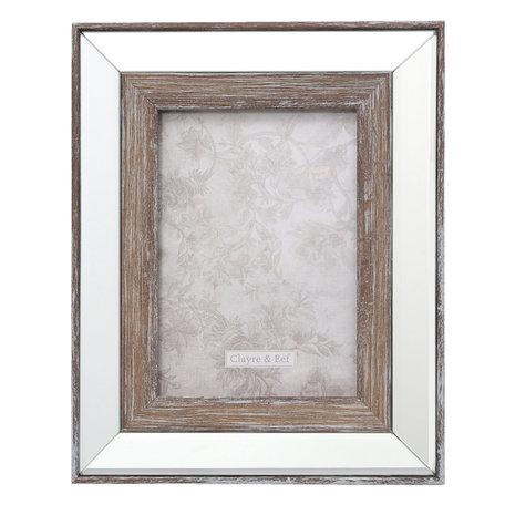 Fotolijst 22*2*27 / 13*18 cm Zilverkleurig | 2F0621M | Clayre & Eef