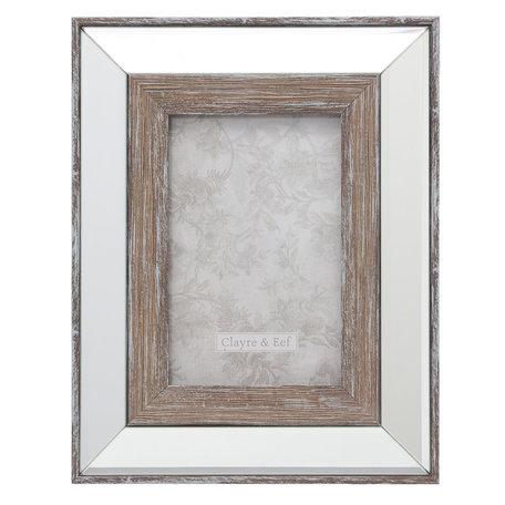 Fotolijst 19*2*24 / 10*15 cm Zilverkleurig | 2F0621S | Clayre & Eef