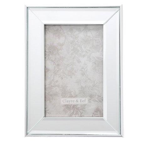 Fotolijst 15*2*20 / 10*15 cm Zilverkleurig | 2F0623S | Clayre & Eef