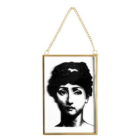 2 STUKS Hanger in glas 10*1*15 cm Meerkleurig | 64390 | Clayre & Eef