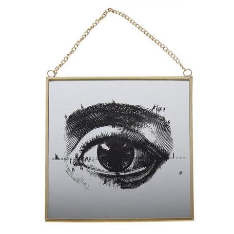 Hanger in glas 20*1*20 cm Meerkleurig | 64391 | Clayre & Eef