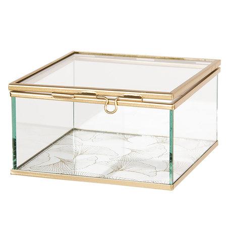 Juwelendoosje 12*12*6 cm Transparant | 6GL2547 | Clayre & Eef
