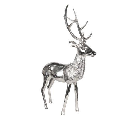 Decoratie rendier 20*41*66 cm Zilverkleurig | 5AL0005 | Clayre & Eef