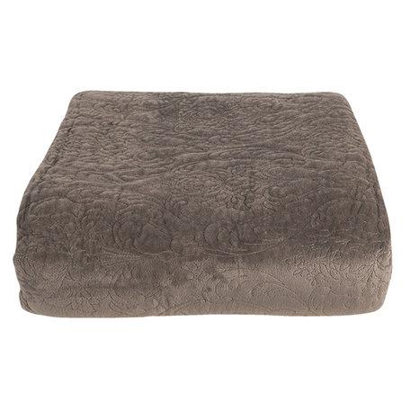 Bedsprei inclusief 2 kussenhoezen 180*260/ (2) 40*40 cm Grijs | QS060.007 | Clayre & Eef