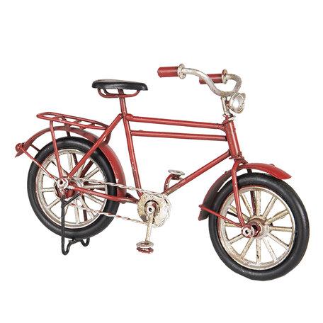 Model fiets 16*5*10 cm Rood   6Y3702   Clayre & Eef