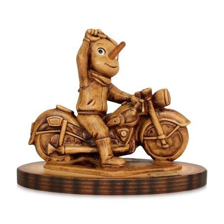 Beeld Pinokkio motorbike 15 x 14,5 x 9 cm | Bartolucci