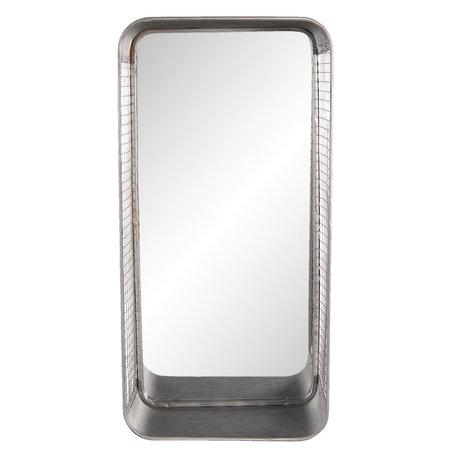 Spiegel met schap 28*15*57 cm Grijs | 52S184 | Clayre & Eef