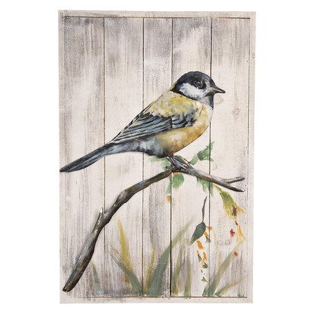 Wanddecoratie vogel 40*6*60 cm Multi | 5WA0124 | Clayre & Eef