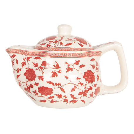 Theepot ø 16*11 cm / 0.4L Rood | 6CETE0071S | Clayre & Eef