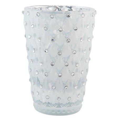 Waxinelichthouder ø 7*11 cm Wit | 6GL1649 | Clayre & Eef