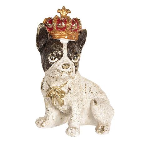 Decoratie hond 8*6*11 cm Multi | 6PR2520 | Clayre & Eef