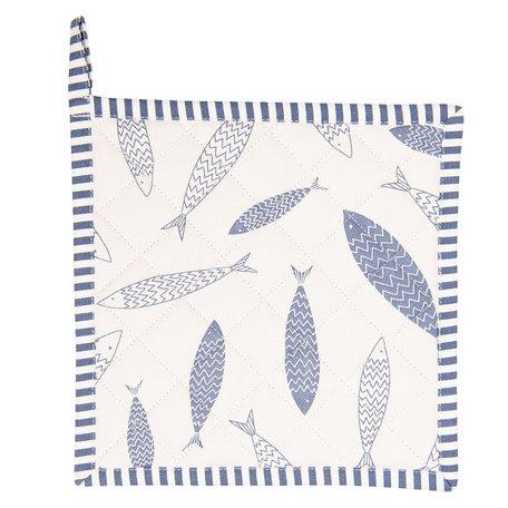 Pannenlap 20*20 cm Blauw | NAF45 | Clayre & Eef