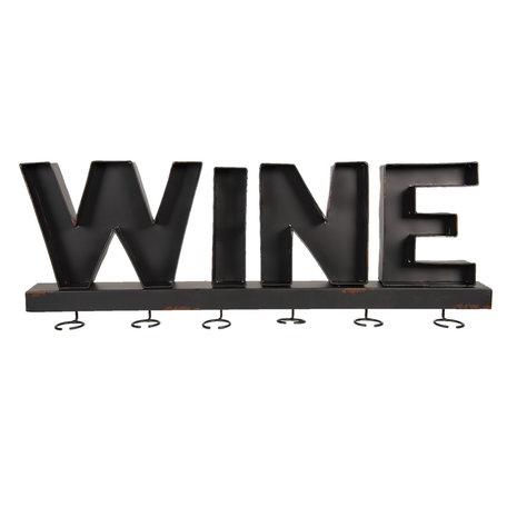 Wandrek voor wijnglazen 79*8*28 cm Bruin | 5Y0662 | Clayre & Eef