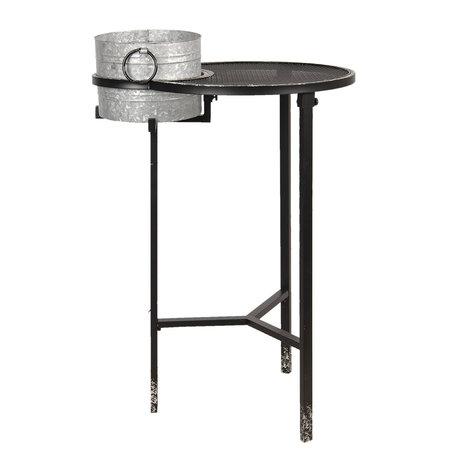 Bijzettafel met wijnkoeler 73*62*111 cm Grijs | 5Y0663 | Clayre & Eef