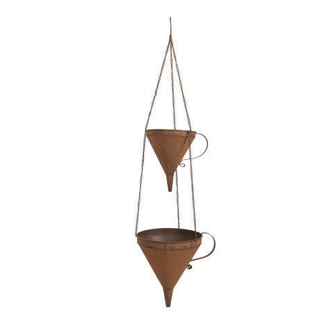 Hangende planthouder 32*25*105 cm Bruin | 6Y3579 | Clayre & Eef