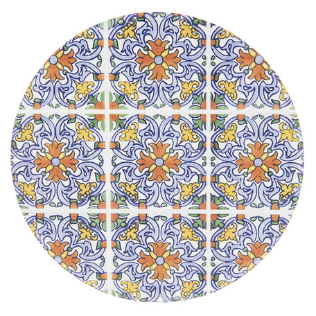 Onderzetter (4 pcs) ø 11 cm ( set 4 ) Meerkleurig | 6CE0983 | Clayre & Eef