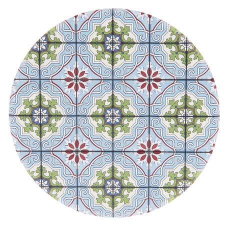 Onderzetter (4 pcs) ø 11 cm ( set 4 ) Meerkleurig | 6CE0984 | Clayre & Eef