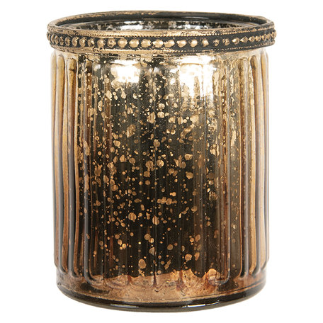 Waxinelichthouder ø 8*9 cm Bruin | 6GL2625 | Clayre & Eef