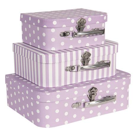 Decoratie koffer (set van 3) 30*21*9/25*18*9/20*16*8 cm Multi | CC60022 | Clayre & Eef