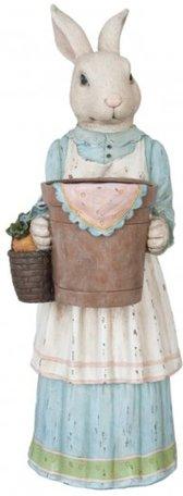 Decoratie konijn meisje | 6PR1070 | Clayre & Eef | Pasen