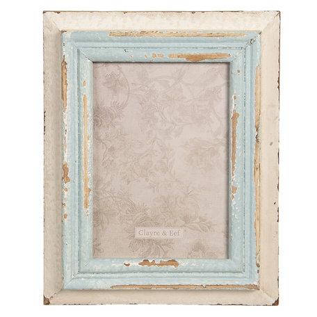Fotolijst 20*3*25 cm / 13*18 cm Blauw | 2F0630 | Clayre & Eef