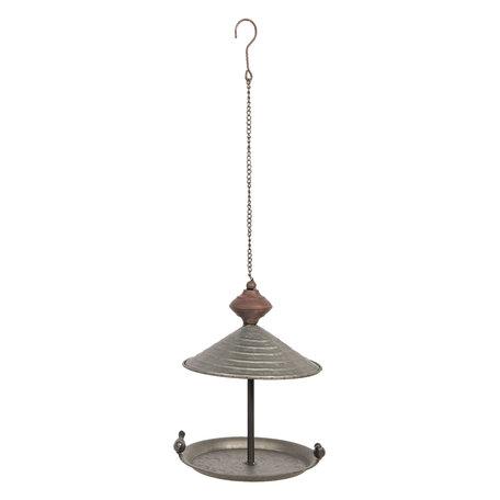 Vogelvoederbak ø 20*27 cm Grijs | 6Y3678 | Clayre & Eef