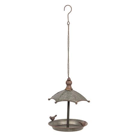 Vogelvoederbak ø 19*24 cm Grijs | 6Y3679 | Clayre & Eef