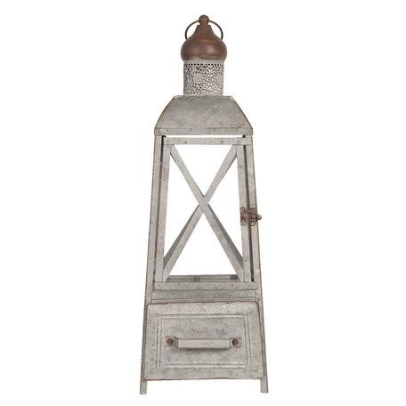 Lantaarn 20*20*56 cm Grijs | 6Y3682 | Clayre & Eef