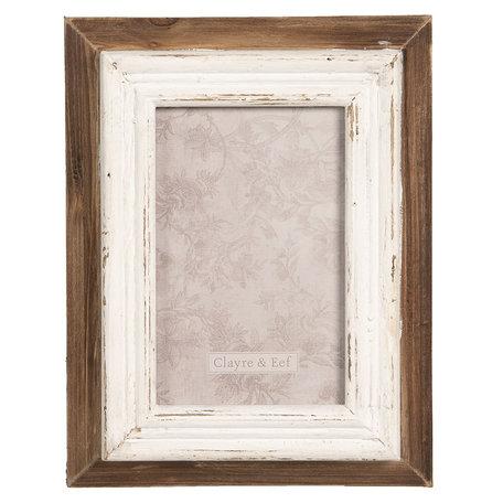 Fotolijst 17*4*22 cm / 10*15 cm Bruin | 2F0629 | Clayre & Eef