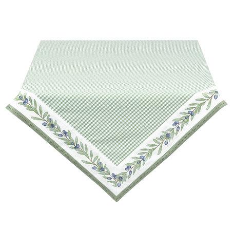 Tafelkleed 100*100 cm Groen | OLG01GR | Clayre & Eef
