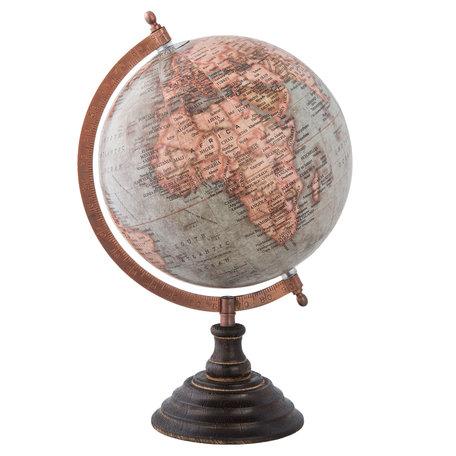 Wereldbol/globe 22*20*33 cm Meerkleurig | 63956 | Clayre & Eef