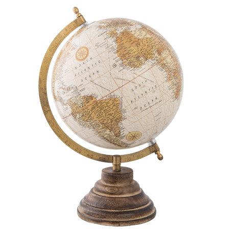 Wereldbol/globe 22*20*33 cm Meerkleurig | 63957 | Clayre & Eef