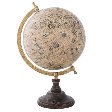 Wereldbol/globe 22*20*33 cm Meerkleurig | 63958 | Clayre & Eef